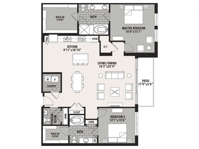 1,730 sq. ft. Preston(B.3) floor plan