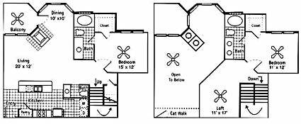 1,546 sq. ft. Chanel floor plan