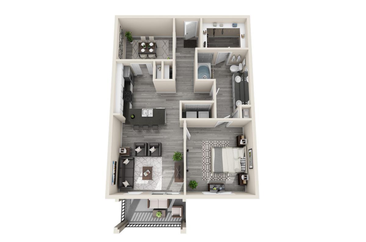 955 sq. ft. Vegas floor plan