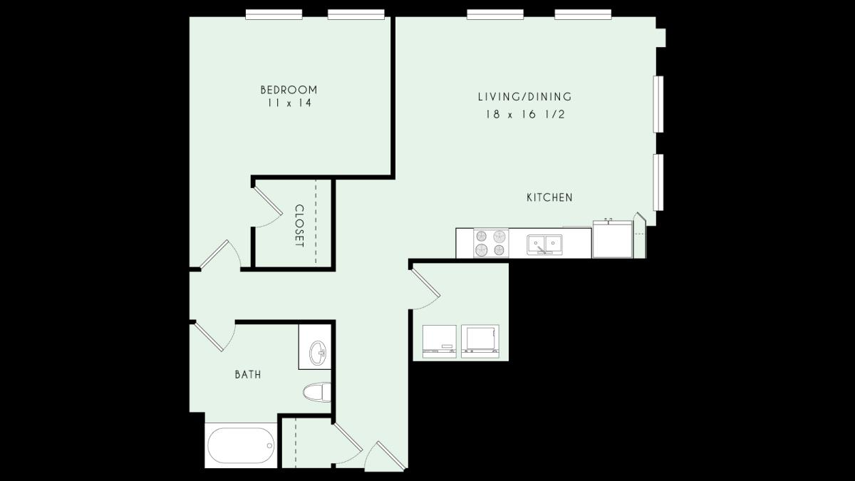 944 sq. ft. A22 MKT floor plan