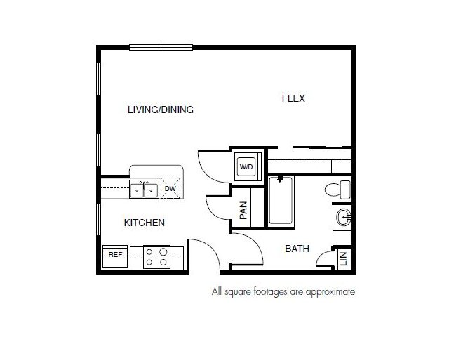 515 sq. ft. floor plan
