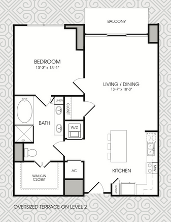 935 sq. ft. to 958 sq. ft. A12 floor plan