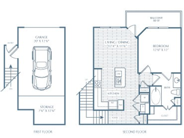 667 sq. ft. A1 O'Neil floor plan