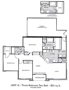 1,321 sq. ft. C1 floor plan