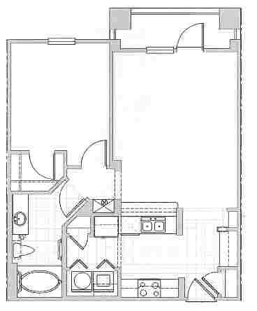 740 sq. ft. Ibiza floor plan