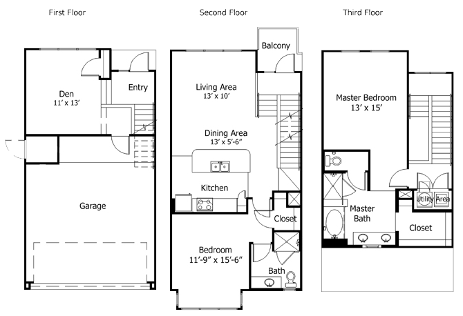 1,620 sq. ft. to 2,025 sq. ft. 5THB2GG floor plan