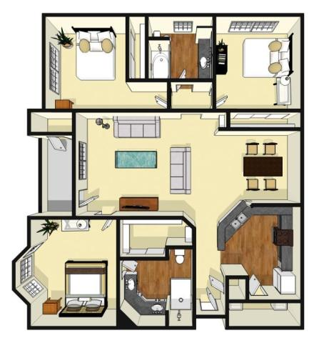 1,323 sq. ft. Greenleaf floor plan
