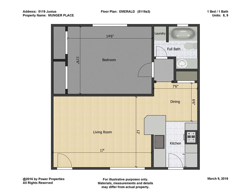 700 sq. ft. to 750 sq. ft. floor plan