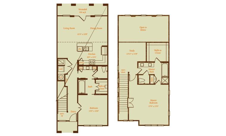 2,063 sq. ft. Sevilla floor plan