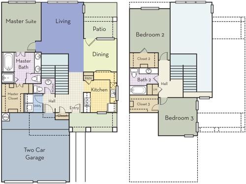1,900 sq. ft. 2.5BT floor plan