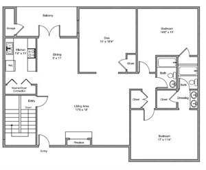 1,397 sq. ft. Sundance floor plan
