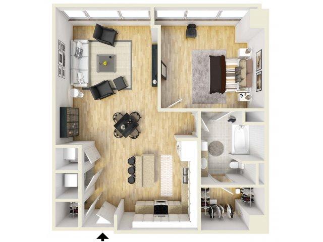 938 sq. ft. Commerce floor plan