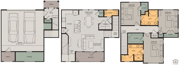 1,764 sq. ft. Grand II floor plan
