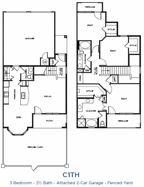 2,094 sq. ft. C1TH P floor plan