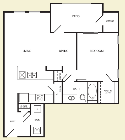 787 sq. ft. Upper Manhattan floor plan