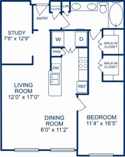 977 sq. ft. NASHVILLE floor plan