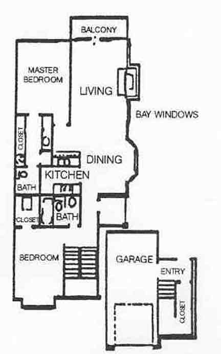 1,101 sq. ft. B-3 floor plan