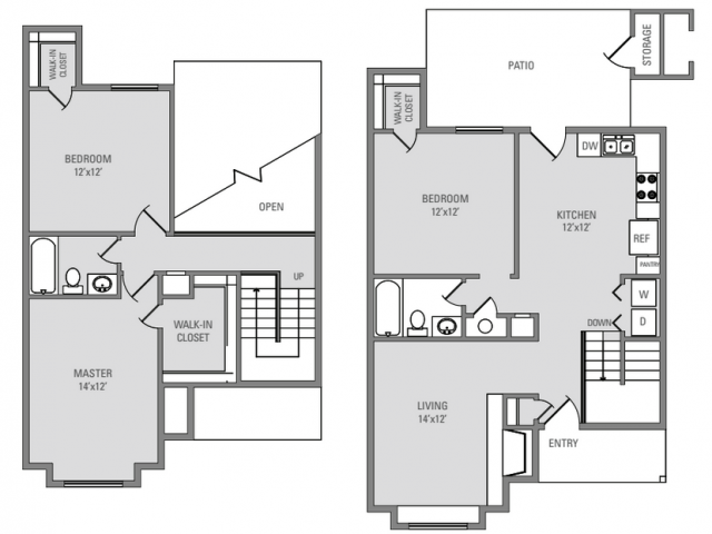 1,366 sq. ft. Windcastle floor plan