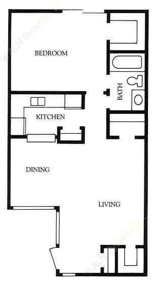 704 sq. ft. Beaumont floor plan