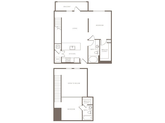 997 sq. ft. B6L floor plan