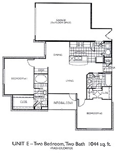 1,044 sq. ft. B2 floor plan
