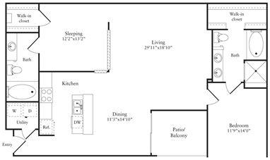 1,417 sq. ft. R floor plan