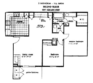 927 sq. ft. floor plan