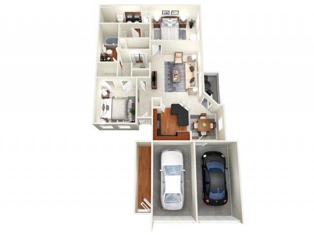 1,370 sq. ft. Atlanta II floor plan
