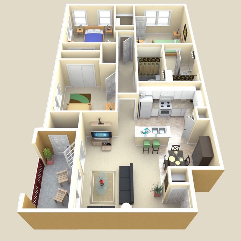 1,191 sq. ft. Mirage floor plan