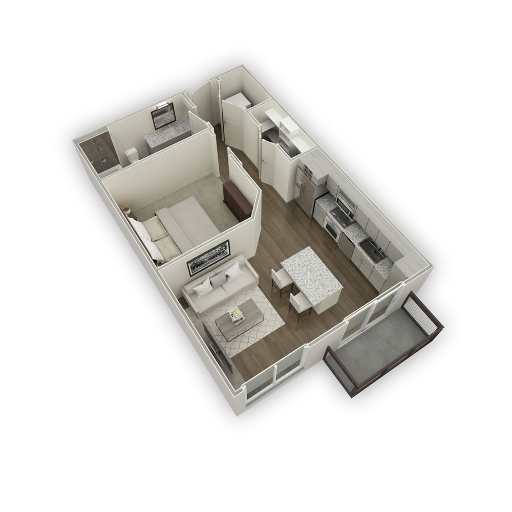 600 sq. ft. S1 floor plan