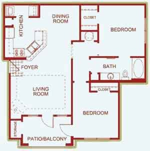 1,029 sq. ft. Savoy floor plan