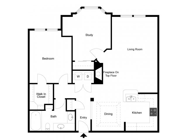 1,052 sq. ft. A8 floor plan