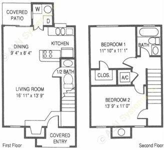 1,000 sq. ft. WT floor plan