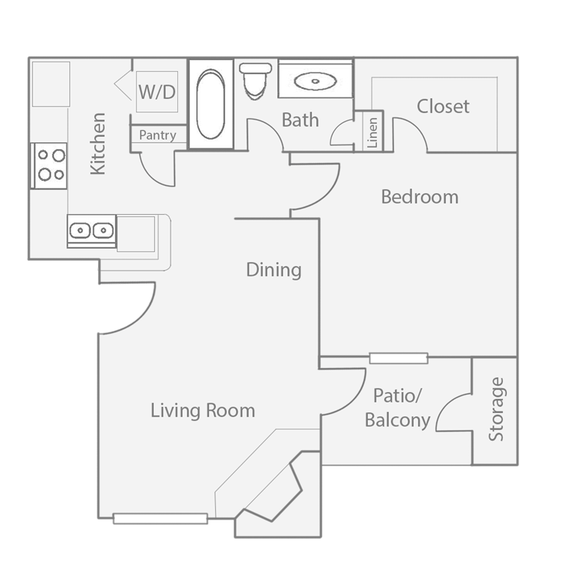 575 sq. ft. A1 floor plan