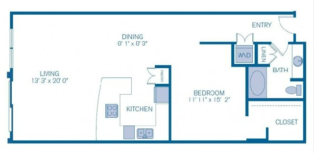 922 sq. ft. L7 floor plan