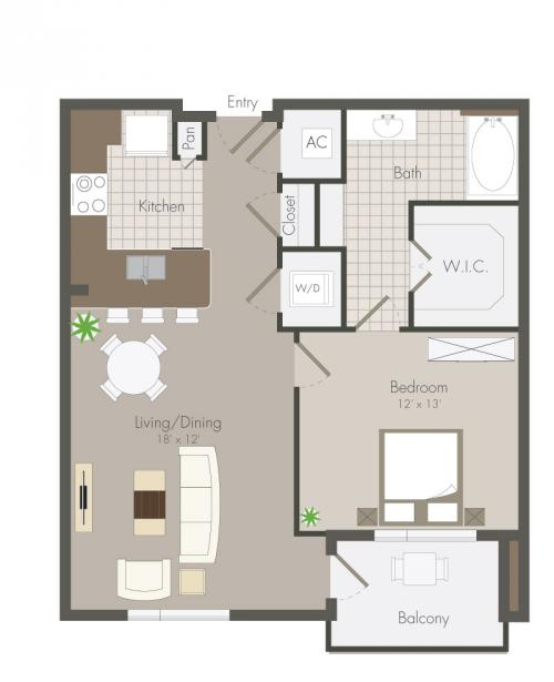 759 sq. ft. Floyd floor plan