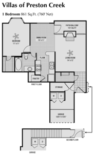 760 sq. ft. A floor plan