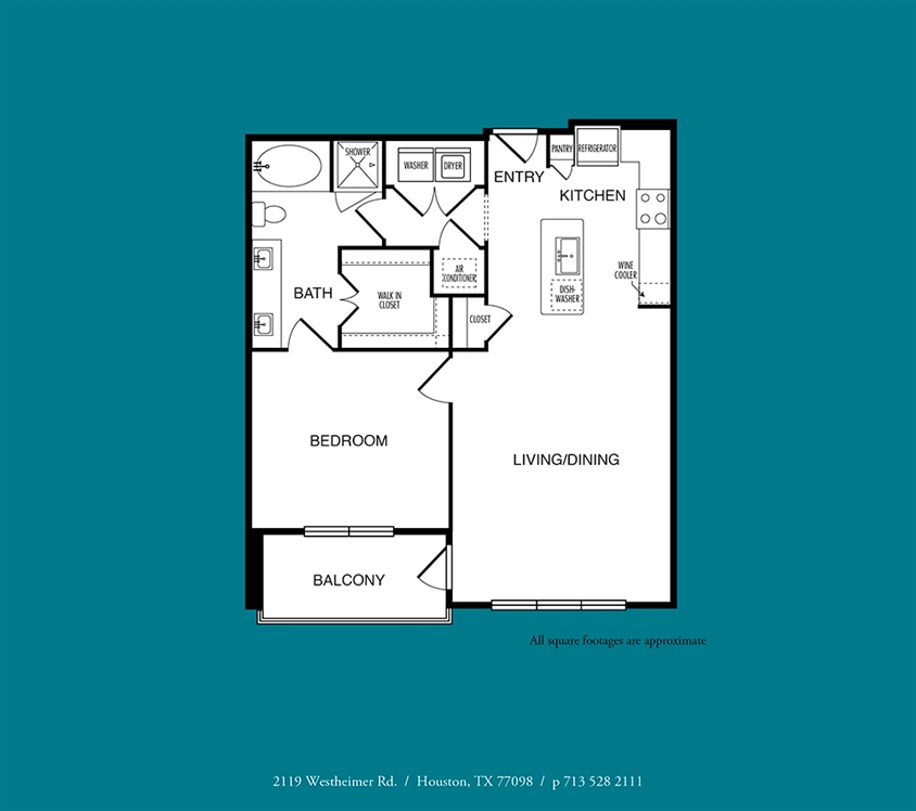 848 sq. ft. to 872 sq. ft. A8 floor plan