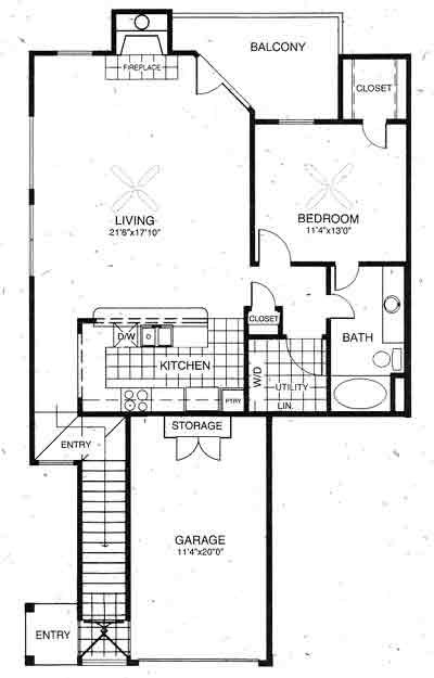 1,013 sq. ft. Dover floor plan