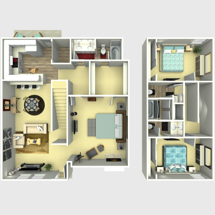 1,440 sq. ft. C3 floor plan