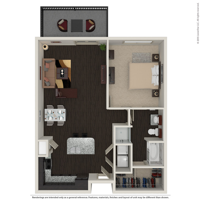 911 sq. ft. A3.2 floor plan