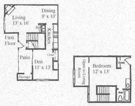 927 sq. ft. A4 floor plan