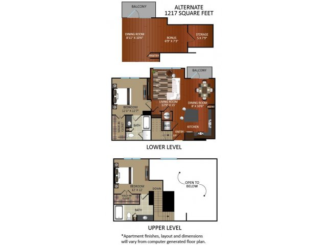 1,121 sq. ft. A4L floor plan
