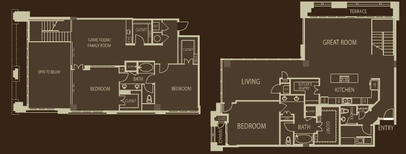 3,095 sq. ft. C1 floor plan