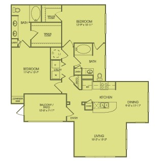 1,235 sq. ft. B5 floor plan