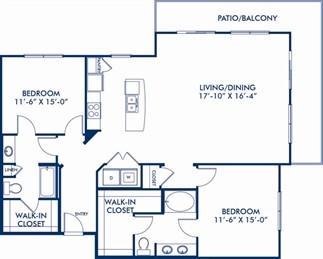 1,470 sq. ft. B7 floor plan