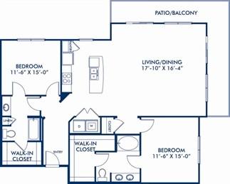 1,470 sq. ft. Famous floor plan