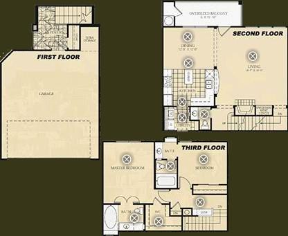 1,450 sq. ft. B4 - Dali floor plan