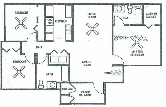 1,174 sq. ft. 60 floor plan