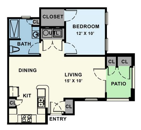 750 sq. ft. 30% floor plan